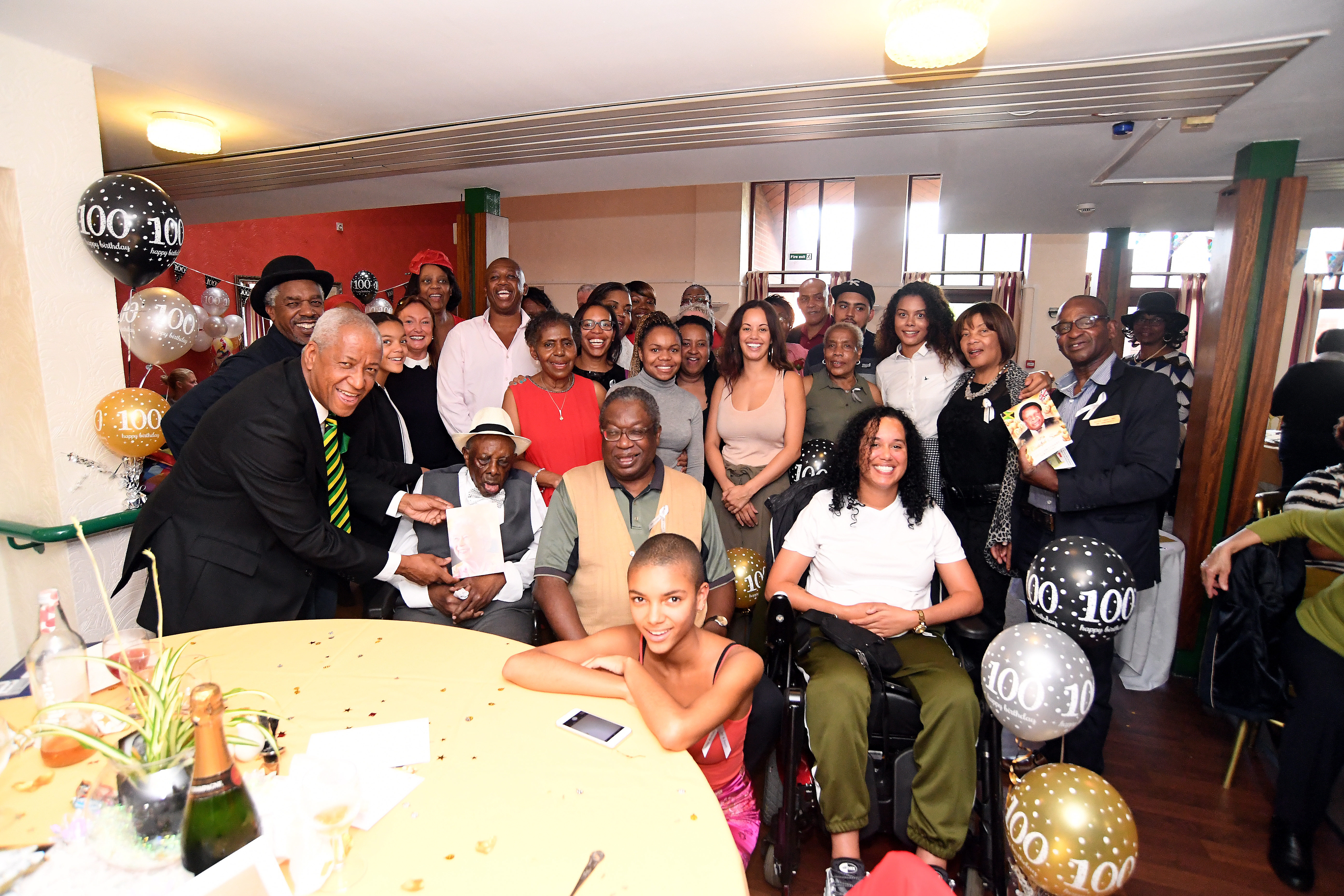 Celebrations for Rudolph Smith's 100th birthday were held at Mary St with family and friends.