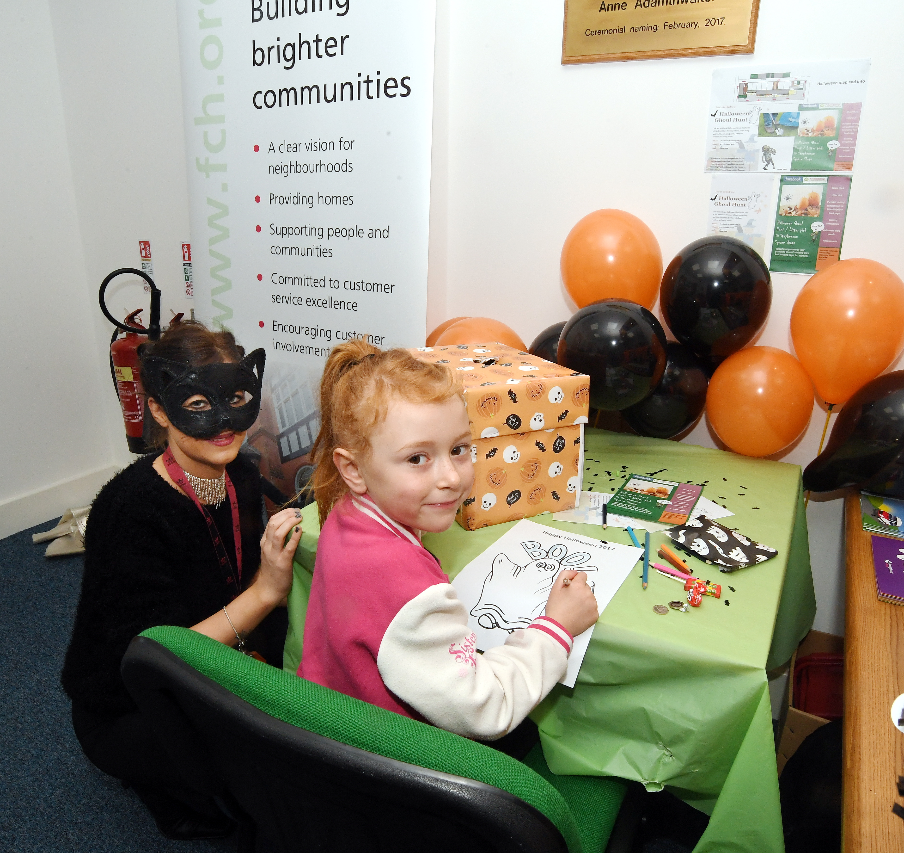 Children at the Halloween event in Beechdale