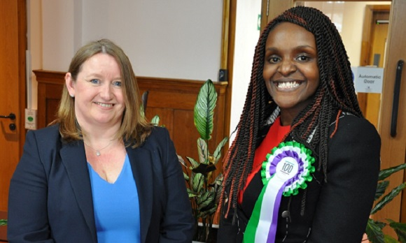 Peterborough MP Fiona Onasanya with Executive Director of Housing, Sharon Guest
