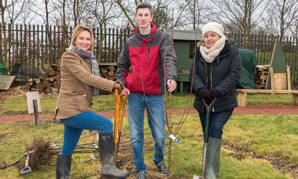 Longhurst Group team helps to plant trees in Peterborough