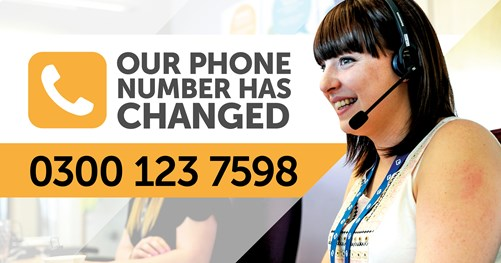 New phone number for Axiom - 0300 123 7598