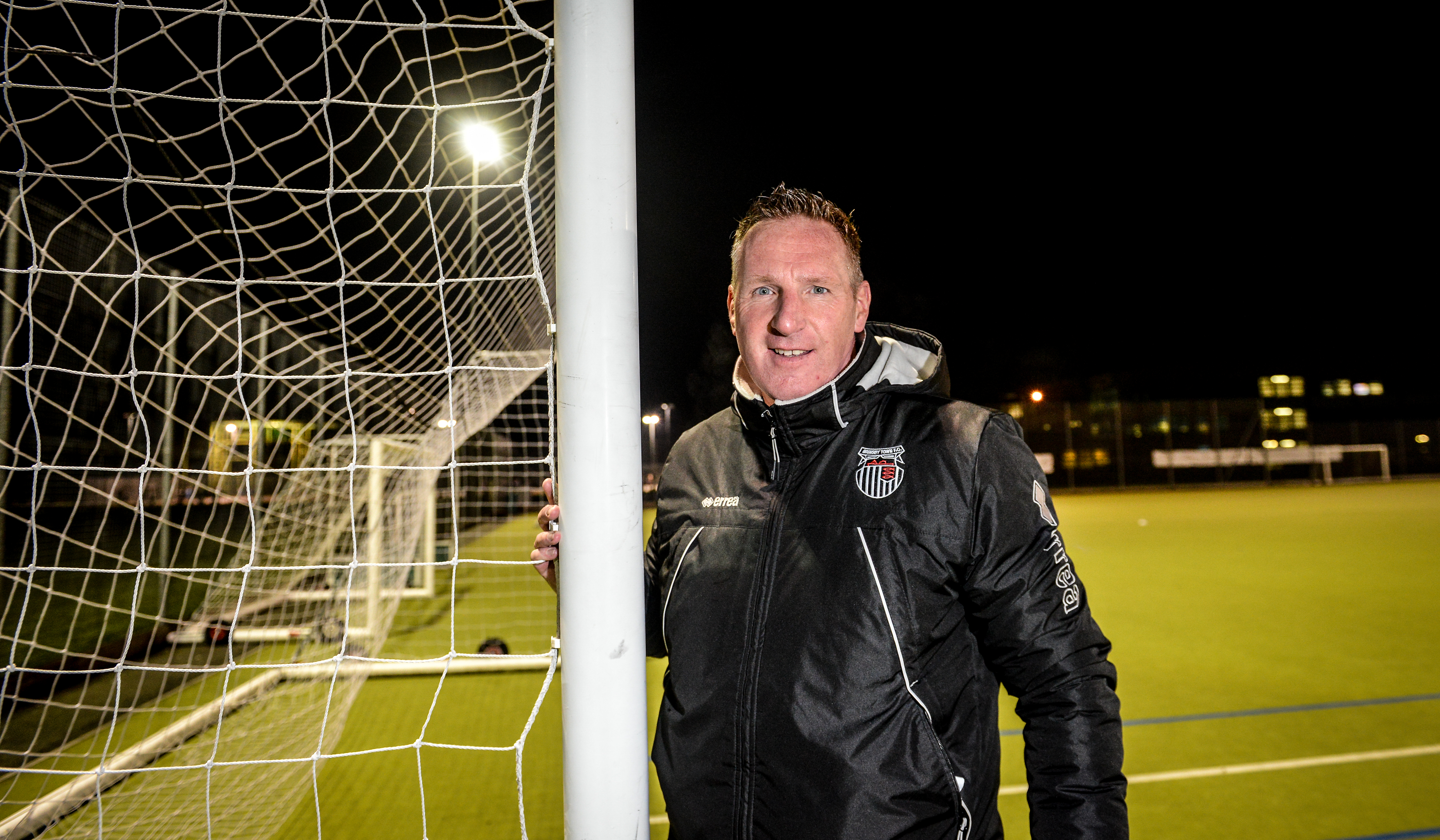 Brian at his other 'job' - as part-time coach with Grimsby Town's Youth Academy