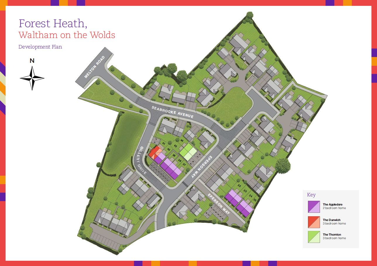 Longhurst Group at Forest Heath site plan