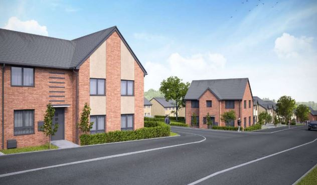 CGI image of house type at the Great Gonerby development