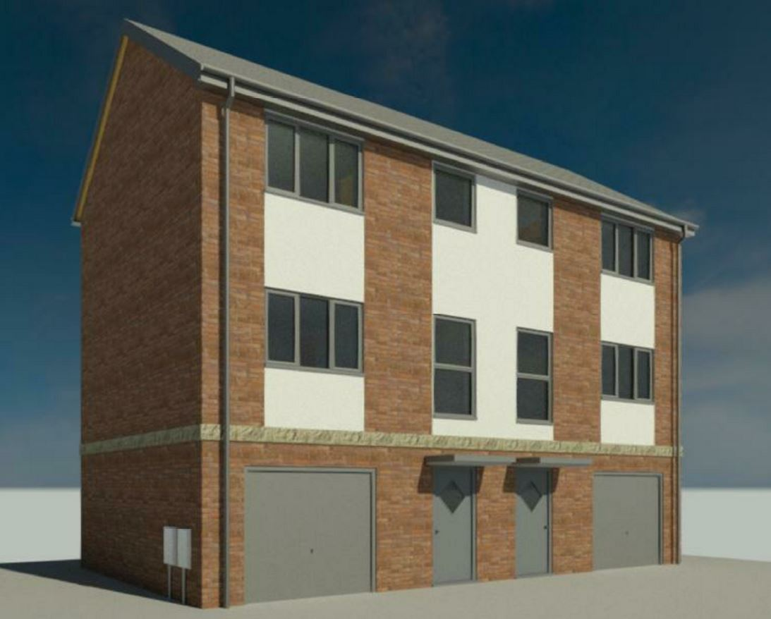 CGI image of house type at Welland Hospital site in Spalding