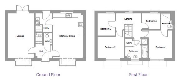 Holly Bluebell Place floor plan