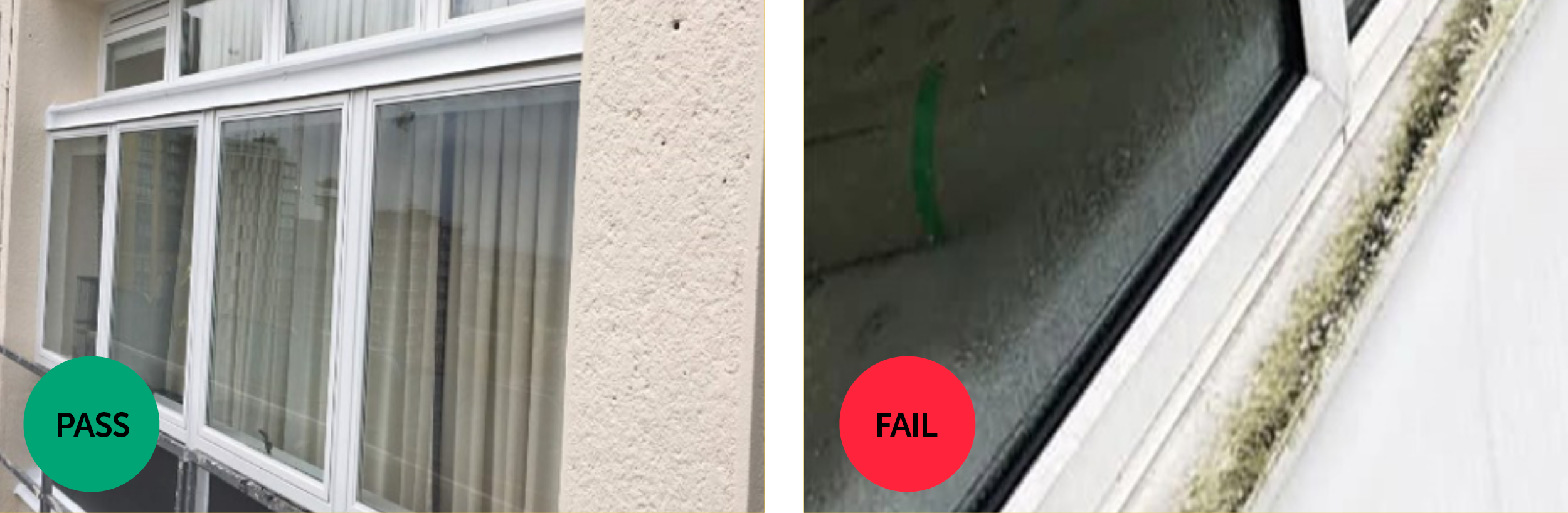 Window cleaning standards image guide