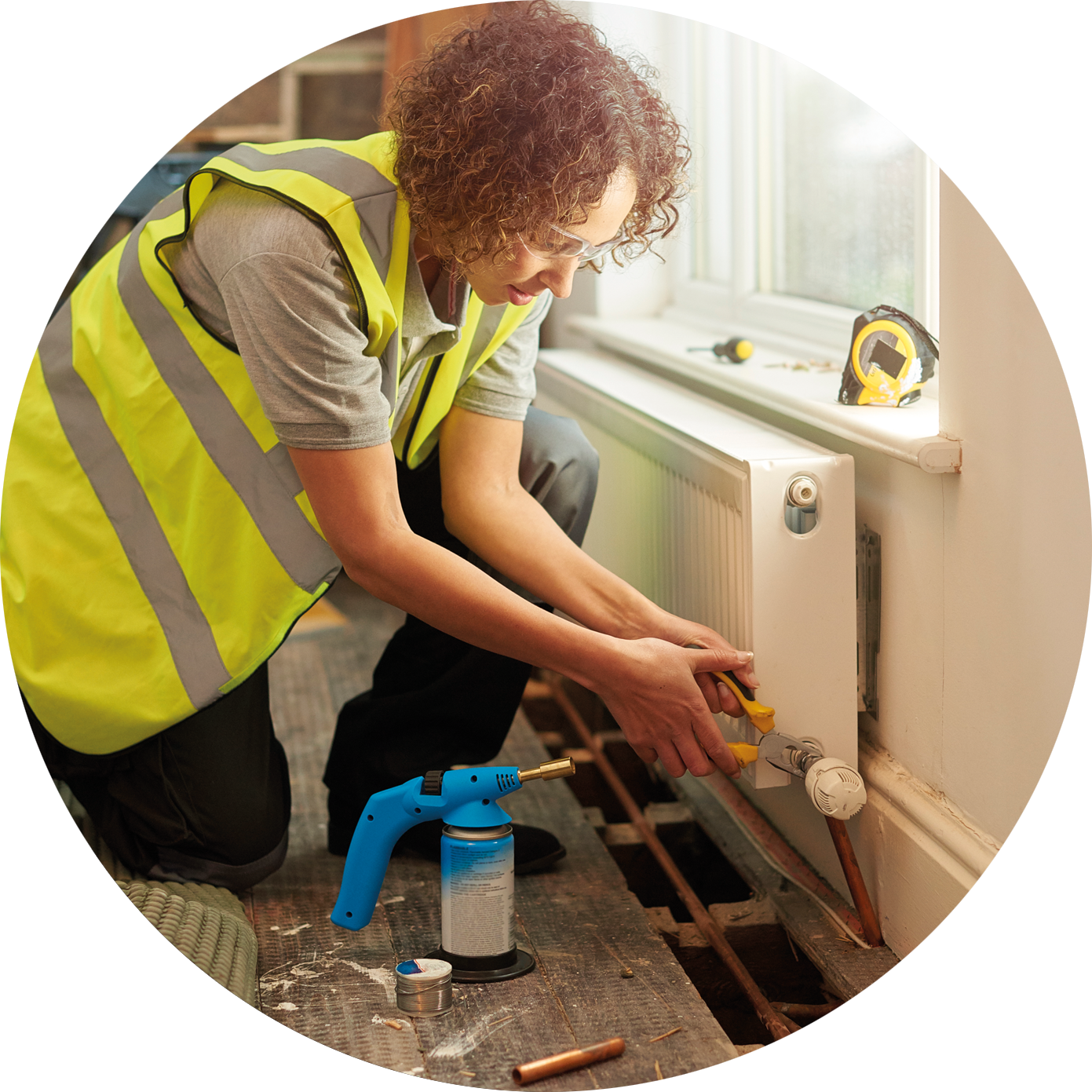Carrying out a repair to a central heating system