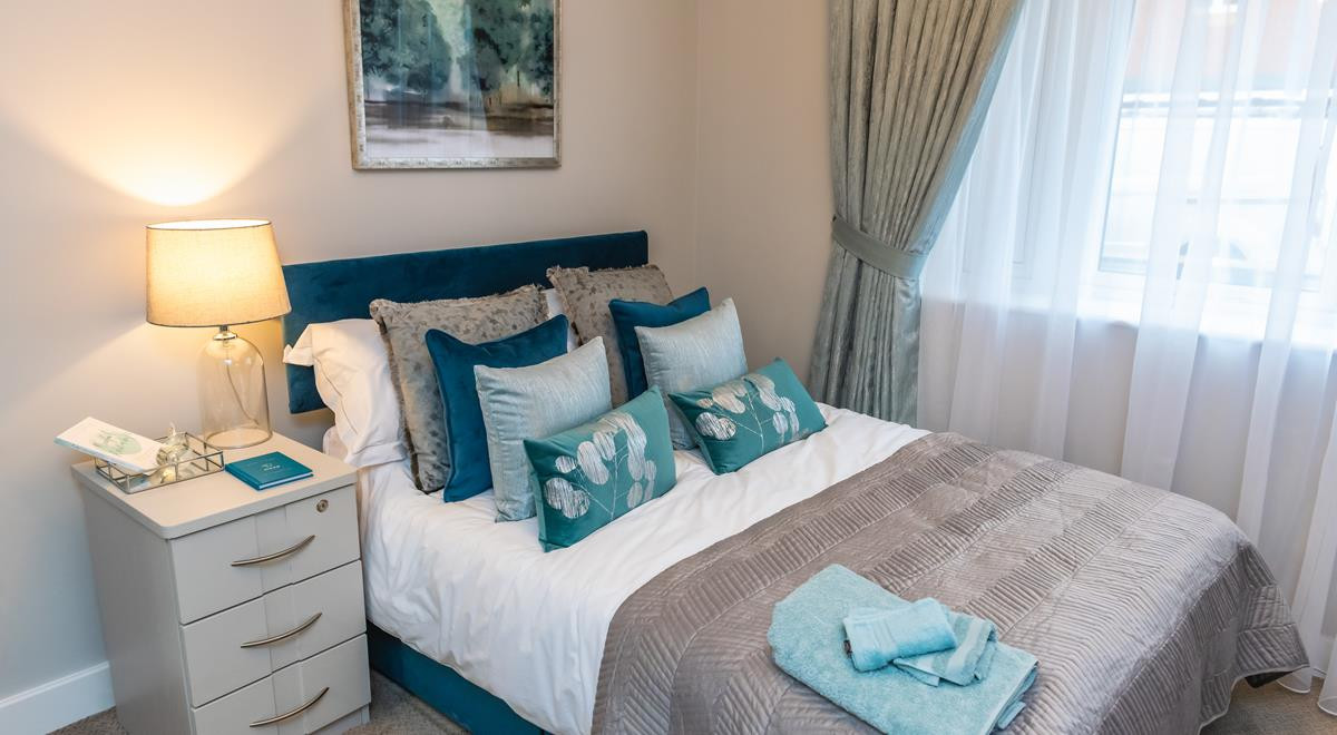 Willow Court – one bed apartment – Bedroom